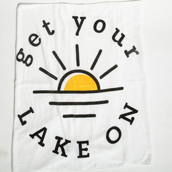Get your lake on towel