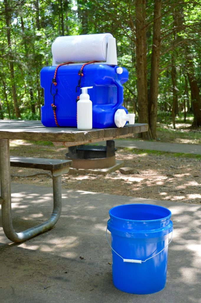DIY Hand Washing Station for Camping from The Paleo Outdoors